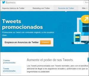 Twitter Anuncios con Tweets promocionados